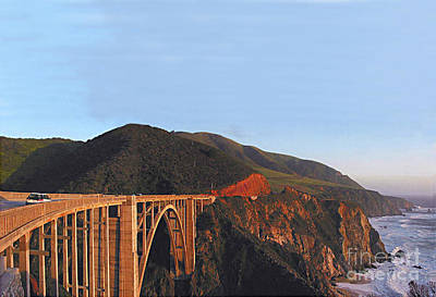 Photograph - Bixby Creek Bridge Big Sur Photo By Pat Hathaway by California Views Mr Pat Hathaway Archives