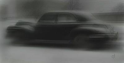 Photograph - Black Car by Jim Vance