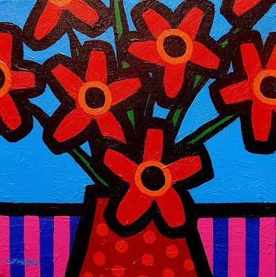 Black Eyed Flowers Art Print by John  Nolan