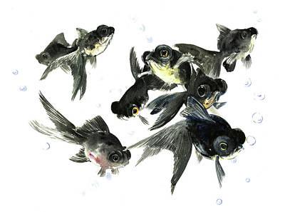 Animals And Feng Shui Art Wall Art - Painting - Black Moor by Suren Nersisyan