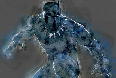 Mixed Media - Black Panther by Marvin Blaine