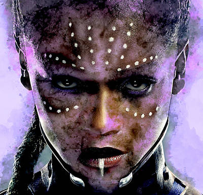 Mixed Media - Black Panther Shuri by Marvin Blaine