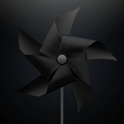 Black Pinwheel Art Print