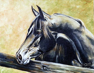 Painting - Black Stallion by Adele Pfenninger