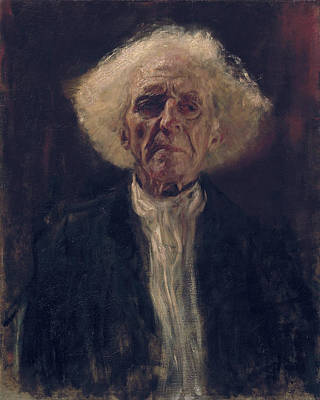 Elderly Painting - Blind Man by Gustav Klimt