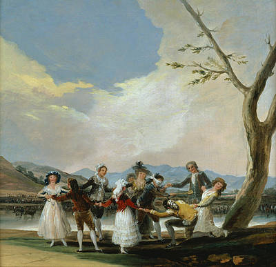 Playing Painting - Blind Man's Buff by Francisco Goya