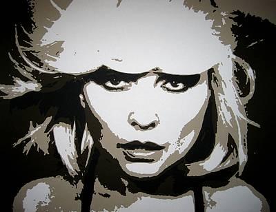 Punk Painting - Blondie by Dan Carman