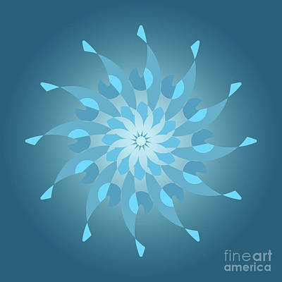 Blue Abstracts Drawing - Blue Abstract Star For Home Decoration by Pablo Franchi