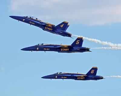 Photograph - Blue Angels by Carol Bradley
