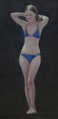 Painting - Blue Bikini by Masami Iida