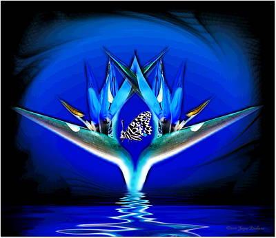 Blue Bird Of Paradise Art Print by Joyce Dickens