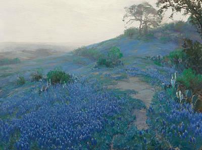 Painting - Blue Bonnet Field, Early Morning, San Antonio Texas by Julian Onderdonk