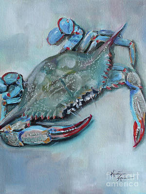 Crab Painting - Blue Crab by Kristine Kainer