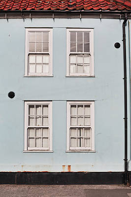 Old Neighbourhood Photograph - Blue House by Tom Gowanlock