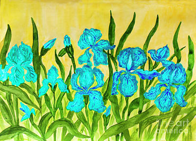 Painting - Blue Irises by Irina Afonskaya