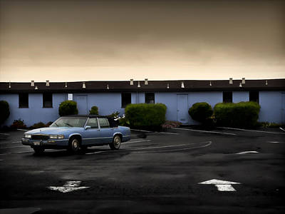 Blue Motel Art Print by John Hansen