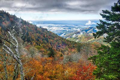 Minimalist Movie Quotes - Blue Ridge Parkway National Park Sunrise Scenic Mountains Autumn by Alex Grichenko