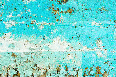Messy Photograph - Blue Stone Surface by Tom Gowanlock
