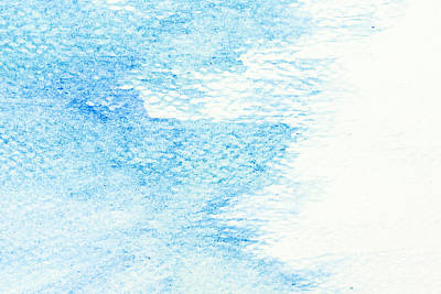 Creativity Photograph - Blue Watercolor Paint On Canvas. Abstract Art Background.  by Michal Bednarek