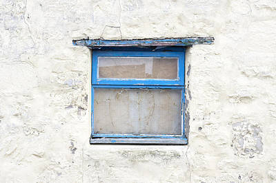 Blue Window Art Print by Tom Gowanlock