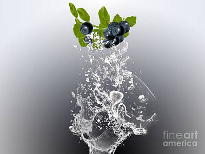 Blueberry Mixed Media - Blueberry Splash by Marvin Blaine