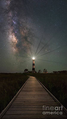 Photograph - Boardwalk To Bodie Island Light  by Michael Ver Sprill