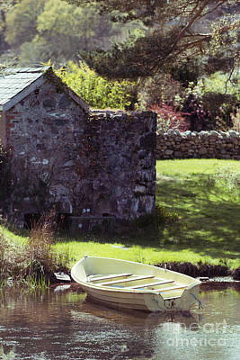Boathouse Photograph - Boat At Llyn Padarn by Amanda Elwell