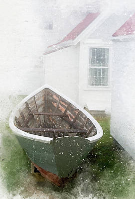 Boat On Monhegan Island Art Print