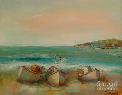 Painting - Boats by Angelina Nedin