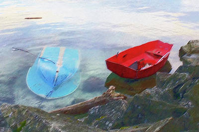 Photograph - 2 Boats  by Mark Alan Perry
