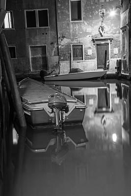 Photograph - 2 Boats Venice Italy  by John McGraw