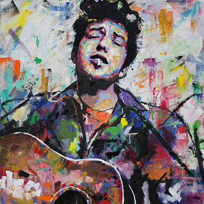 Mr Men Painting - Bob Dylan by Richard Day