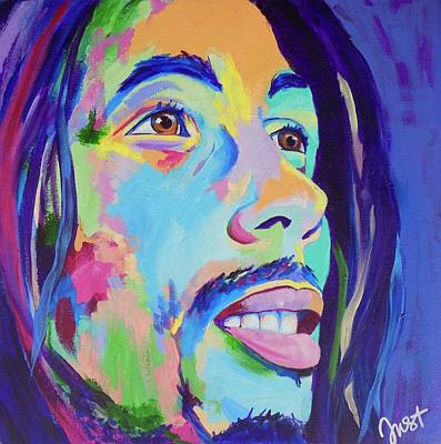 Painting - Bob Marley  by Janice Westfall