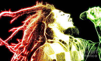 Icon Mixed Media - Bob Marley by The DigArtisT