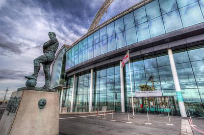 Photograph - Bobby Moore Statue Wembley Stadium by David Pyatt