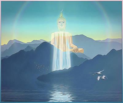 Digital Art - Bodhisattva by Harald Dastis