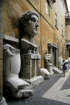 Photograph - Body Parts Of Emperor Constantine by Carl Purcell