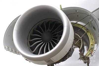 Boeing 747-8 Engine Cowling Art Print by Mark Williamson