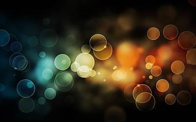 Bright Digital Art - Bokeh by Super Lovely