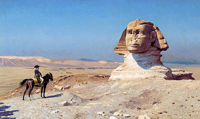 Jean-leon Gerome Painting - Bonaparte Before The Sphinx by Jean-Leon Gerome