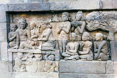 Soap Suds - Borobudur Buddhist temple with Stone Carving, Magelang,  Java by Rostislav Ageev