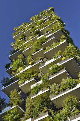 Photograph - Vertical Garden Milan Italy by Marek Stepan