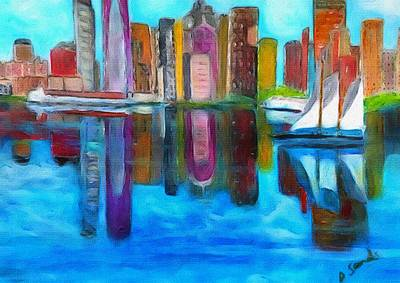 Painting - Boston Reflections by Anne Sands