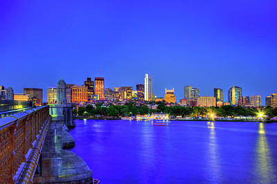 Boston Skyline From The Charles River Art Print