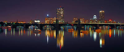 Boston Panoramic Photograph - Boston Skyline Panoramic 2 by Joann Vitali