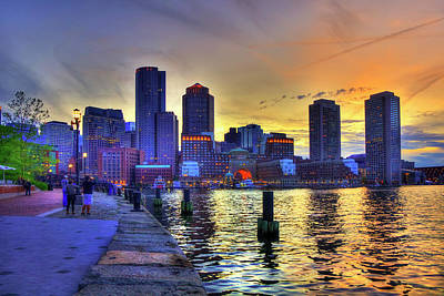 Photograph - Boston Skyline Sunset by Joann Vitali