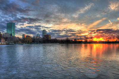Boston Skyline Sunset Over Back Bay Art Print