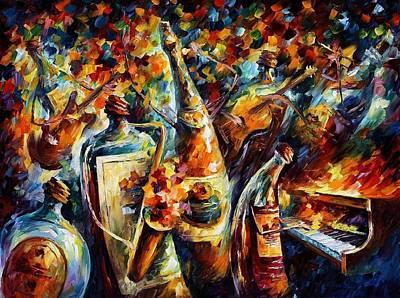 Bottle Jazz Original by Leonid Afremov