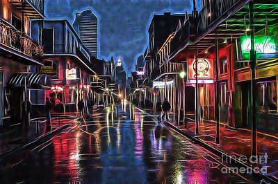 Mixed Media - Bourbon Street Collection by Marvin Blaine