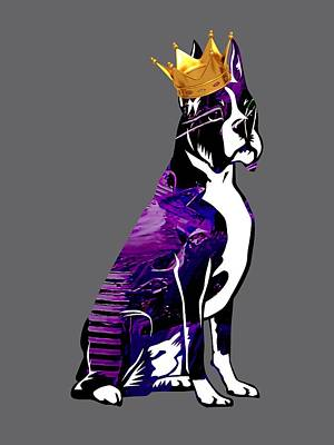 Boxer Mixed Media - Boxer With Crown Collection by Marvin Blaine